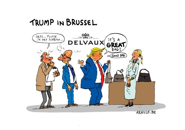 Trump in Brussel
